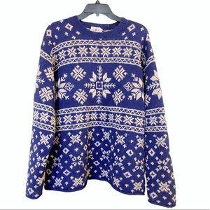Jcrew Vintage Snowflake Wool Sweater